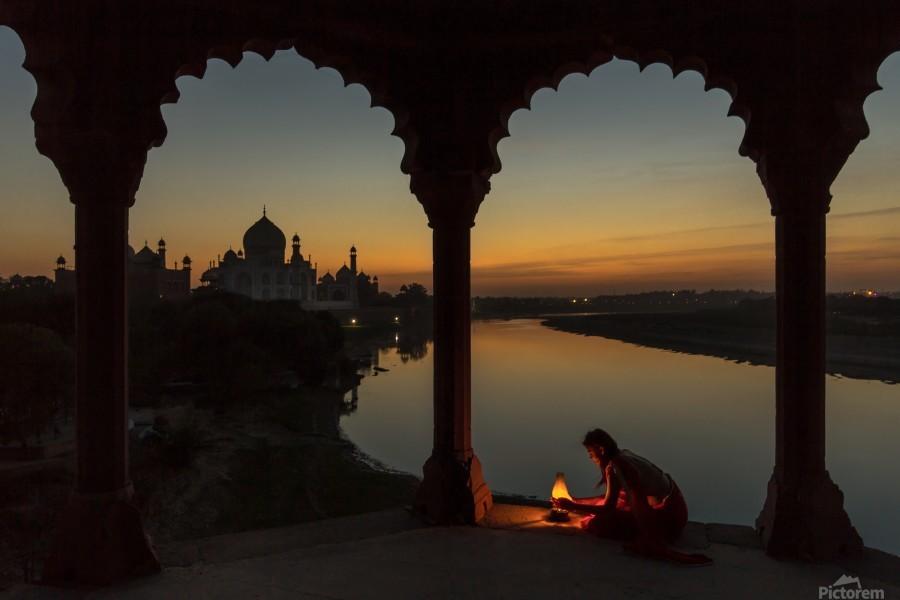 Illuminating the Taj  Imprimer