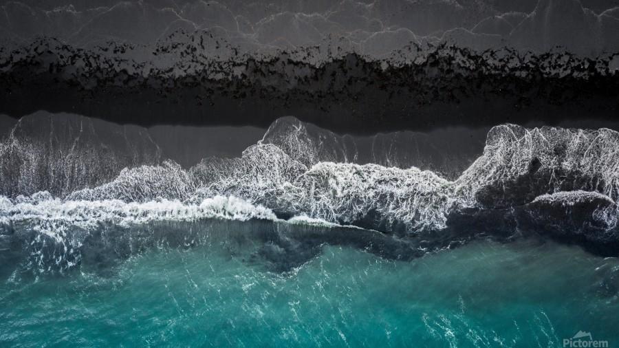 black beach  Print