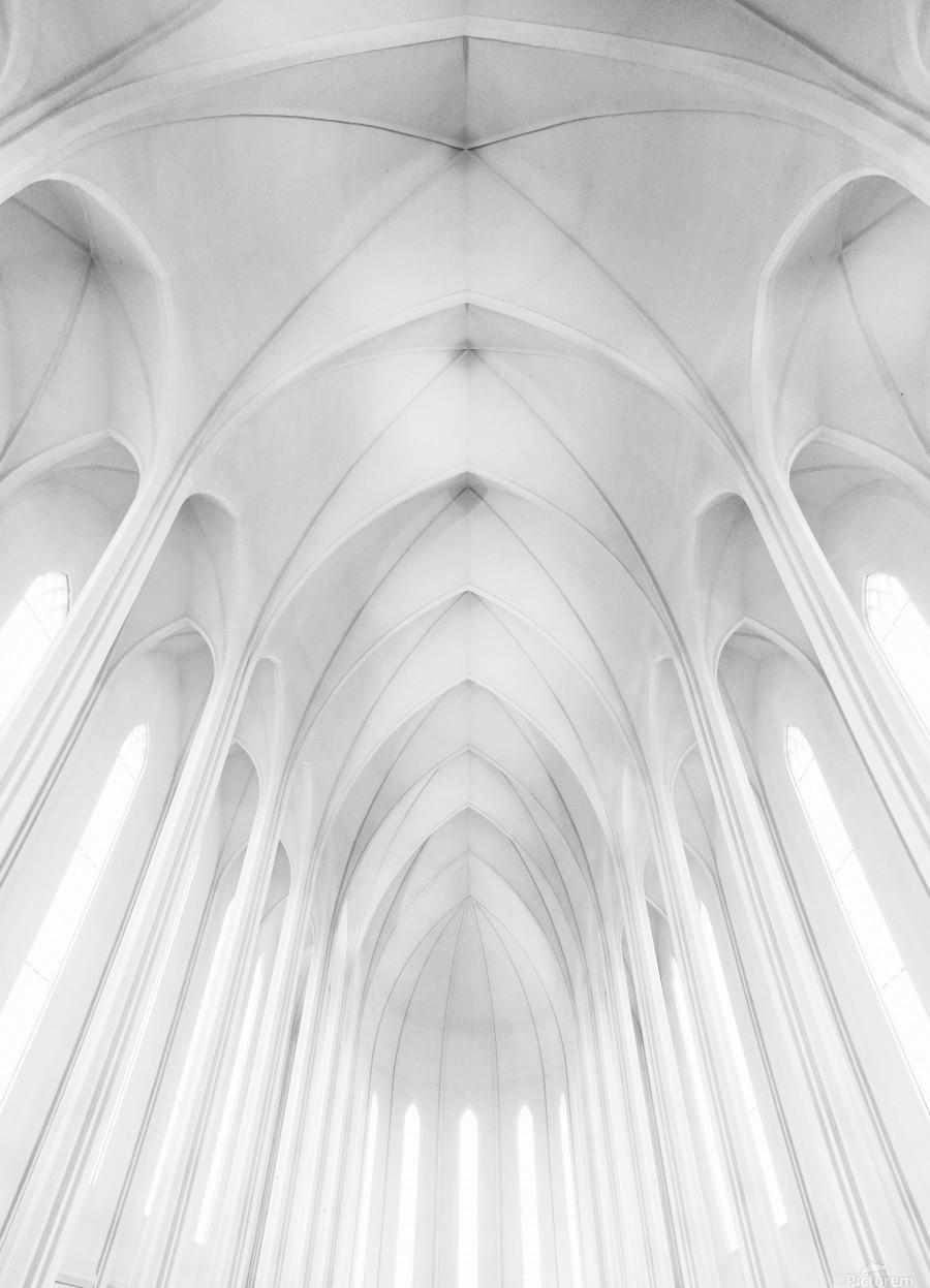 Hallgrimskirkja Church  in Iceland  Print