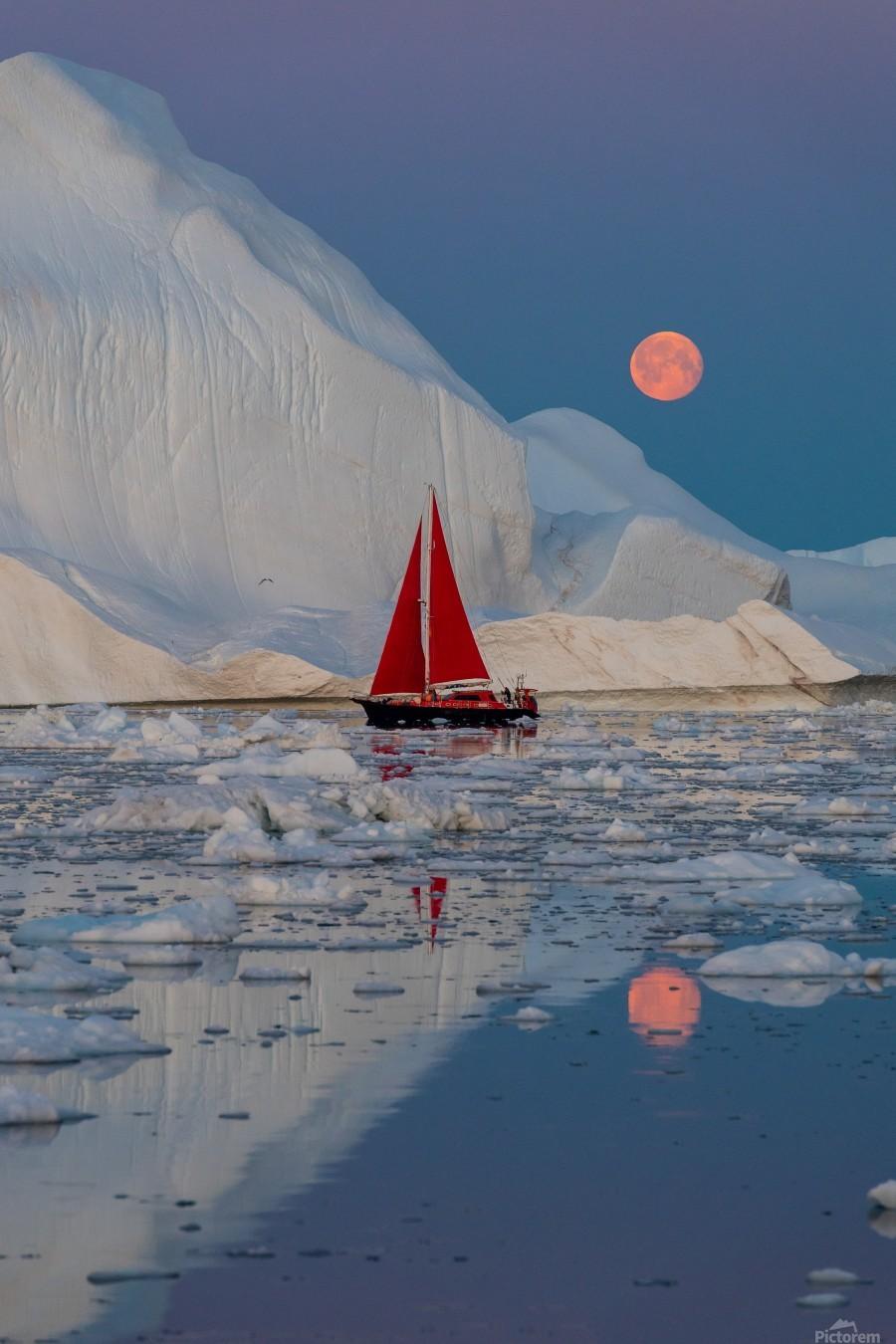 Greenland night  Print