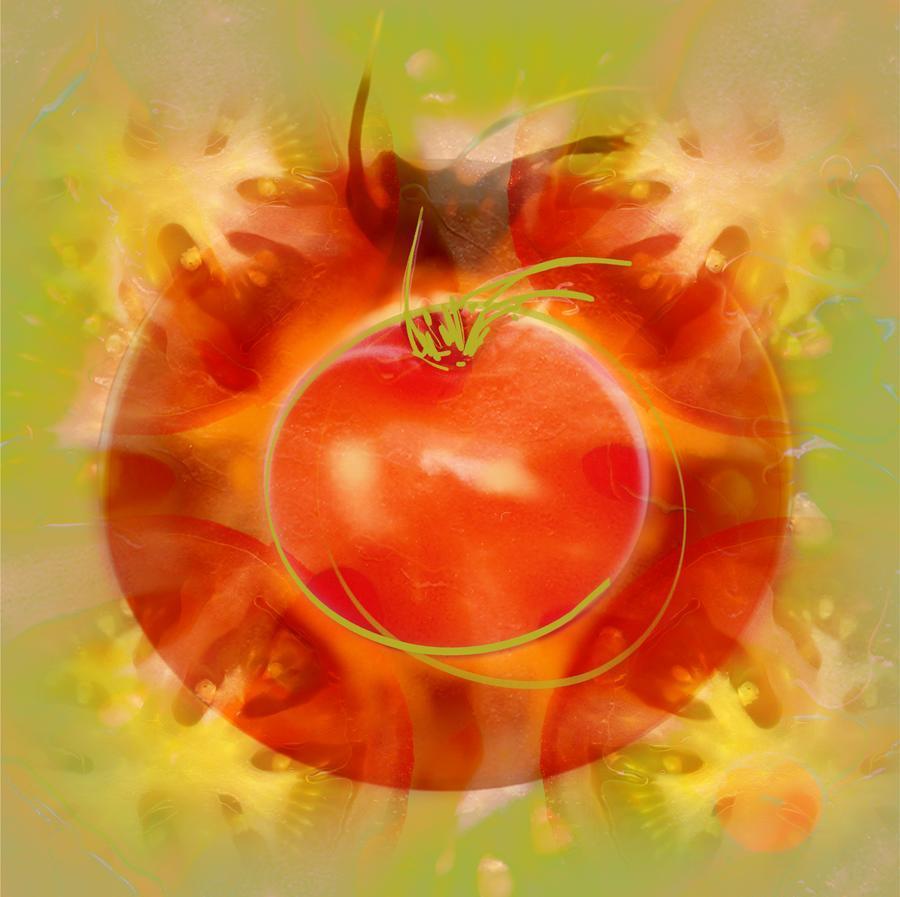 Illustration Of Tomato  Print