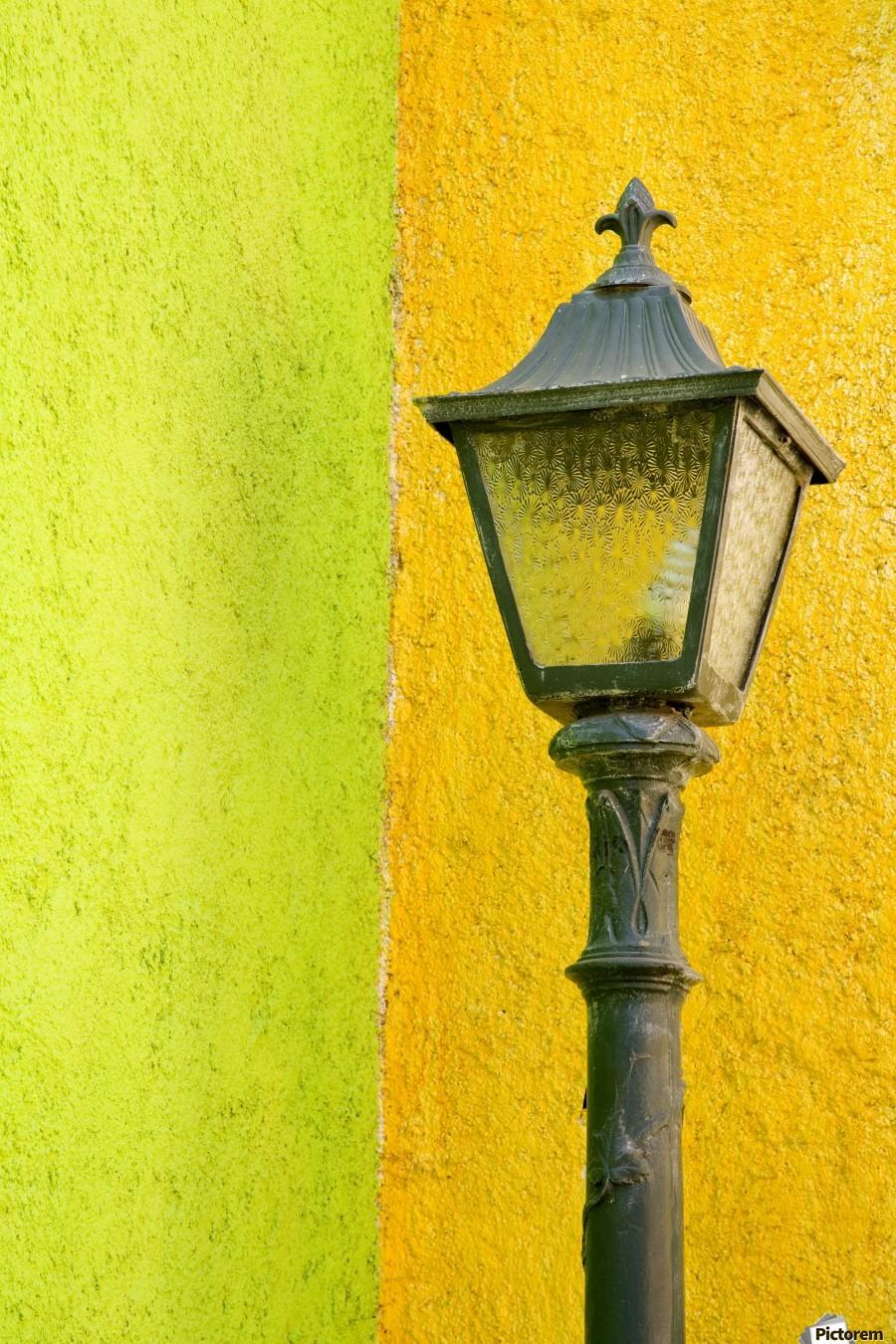 La Crucecita City, Bahias De Huatulco, Oaxaca State, Pacific Coast, Mexico; Lamp In  Print