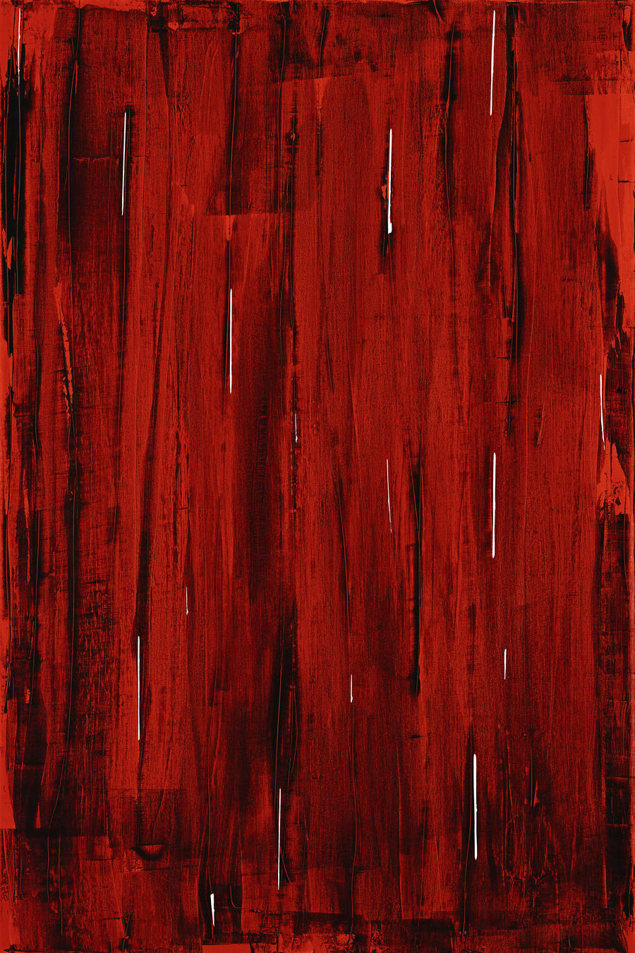 Rain, Abstract Painting In Red And Black (Acrylic Painting).  Print