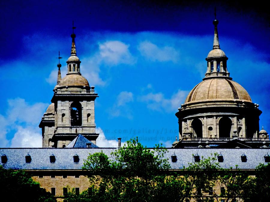 Casita del Principe 7 of 7 - Park and Gardens - The Royal Monastery of San Lorenzo de El Escorial - Madrid Spain  Print