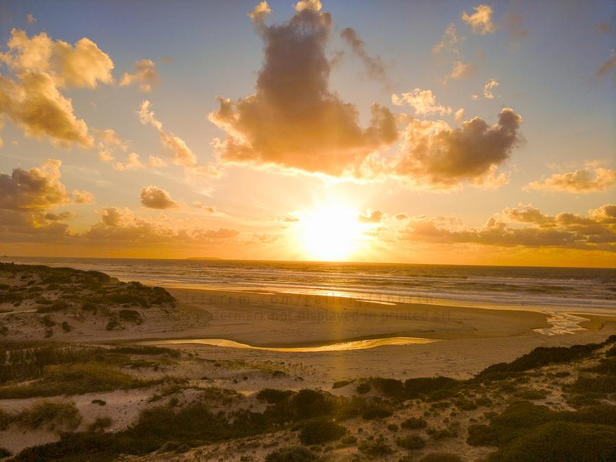 Atlantic Sunset over Praia Del Rey - Portugal  Print