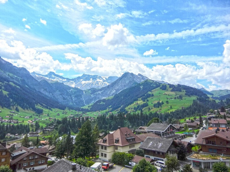 Beautiful Day in the Swiss Alps  Print