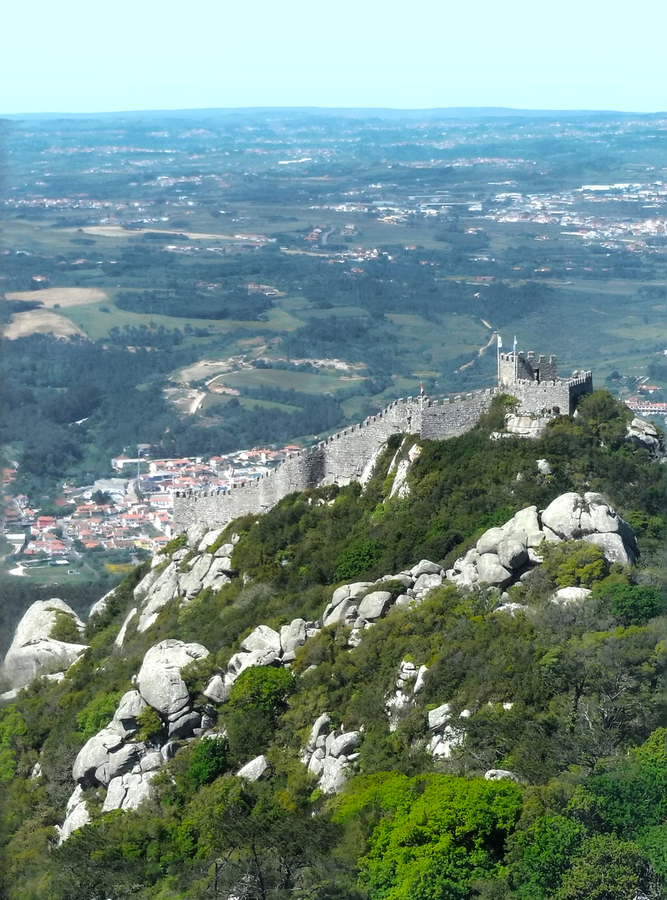 Castelo dos Mouros - Castle of the Moors - Sintra Portugal  Print