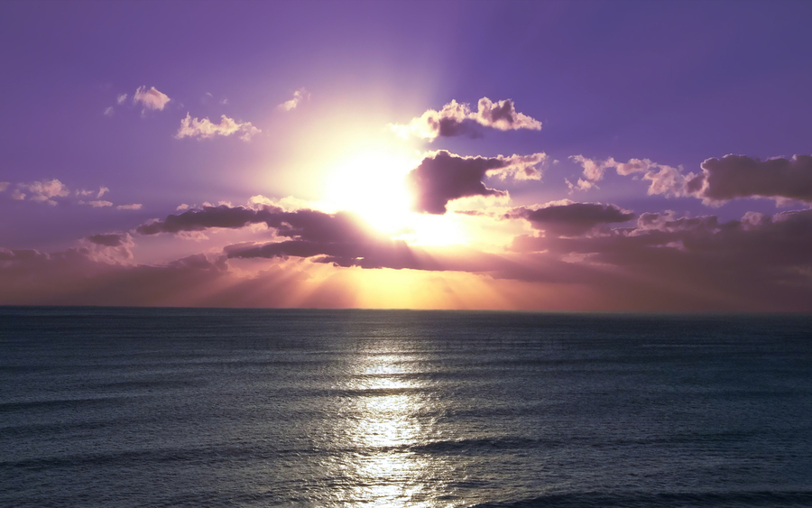Tranquility - Relaxing Sunset over the Pacific  Print
