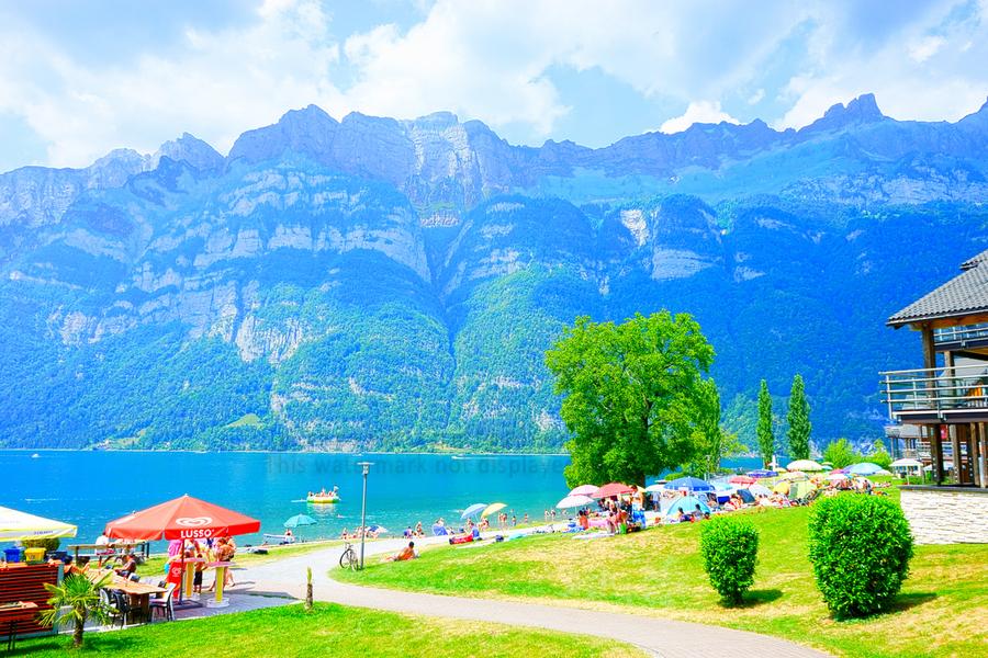 Snapshot in Time Walensee - Lake Walen Switzerland 1 of 3  Print