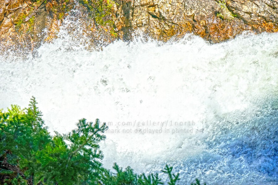 Rocky Mountain Rapids and Waterfalls 1 of 8  Print
