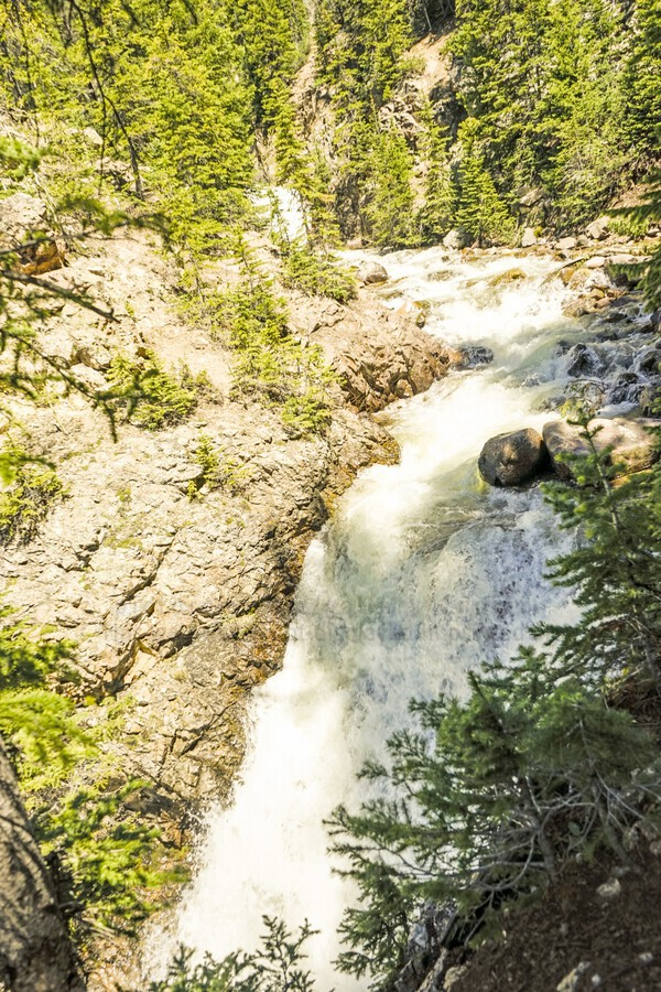 Rocky Mountain Rapids and Waterfalls 6 of 8  Print