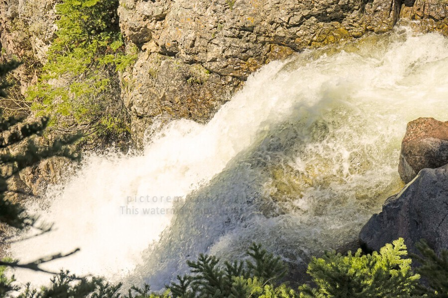 Rocky Mountain Rapids and Waterfalls 7 of 8  Print