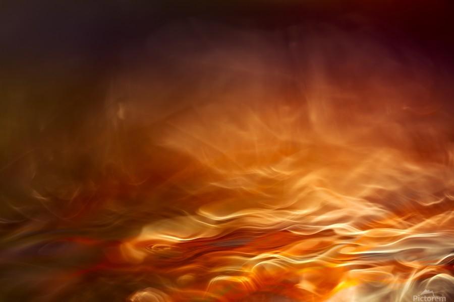 Burning water  Print