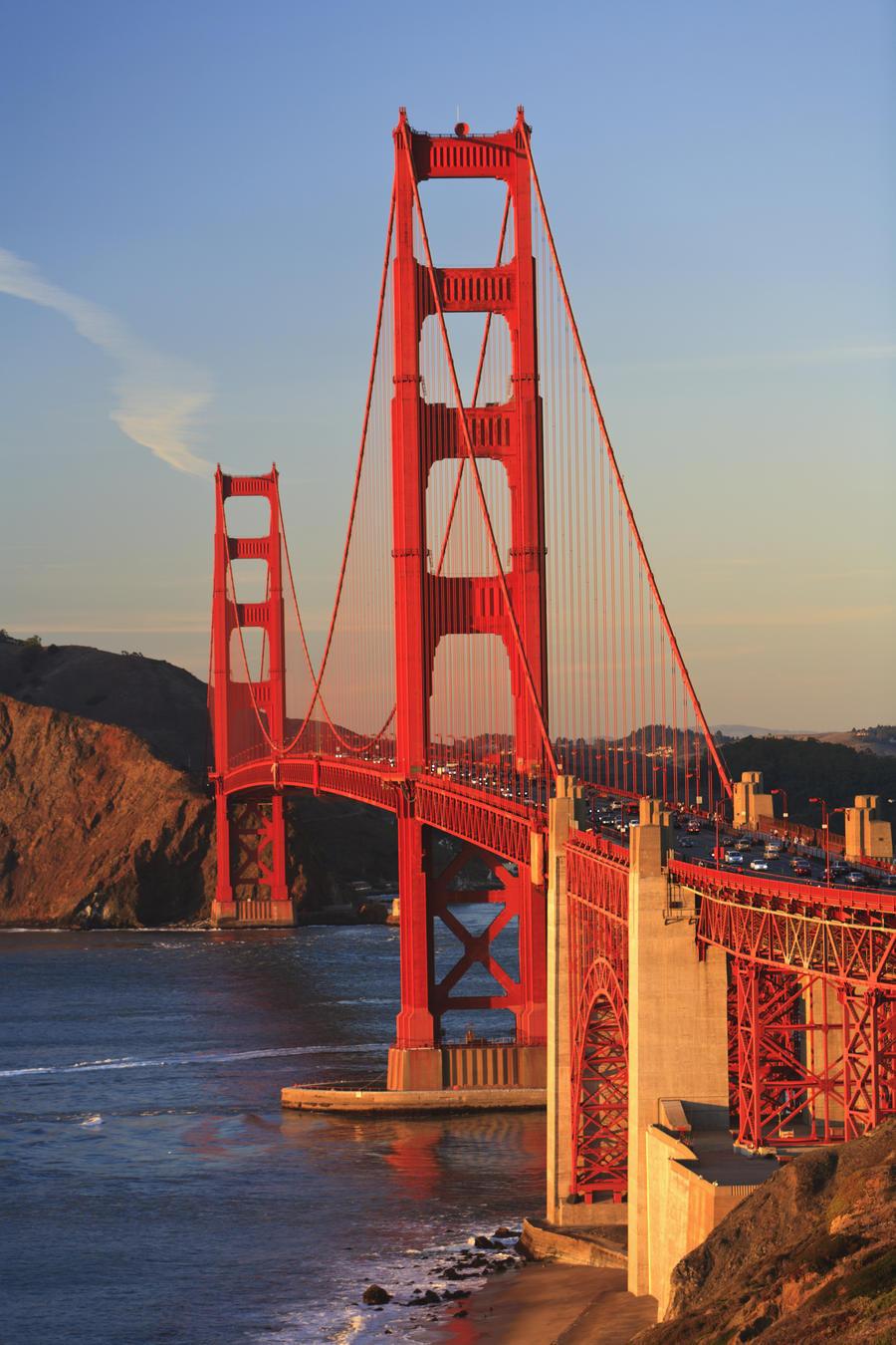 Golden Gate Bridge; San Francisco, California, United States of America  Print
