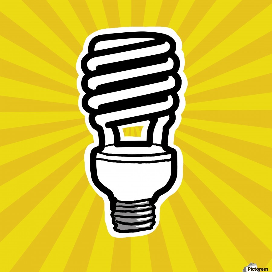 Compact Fluorescent Lightbulb  Print