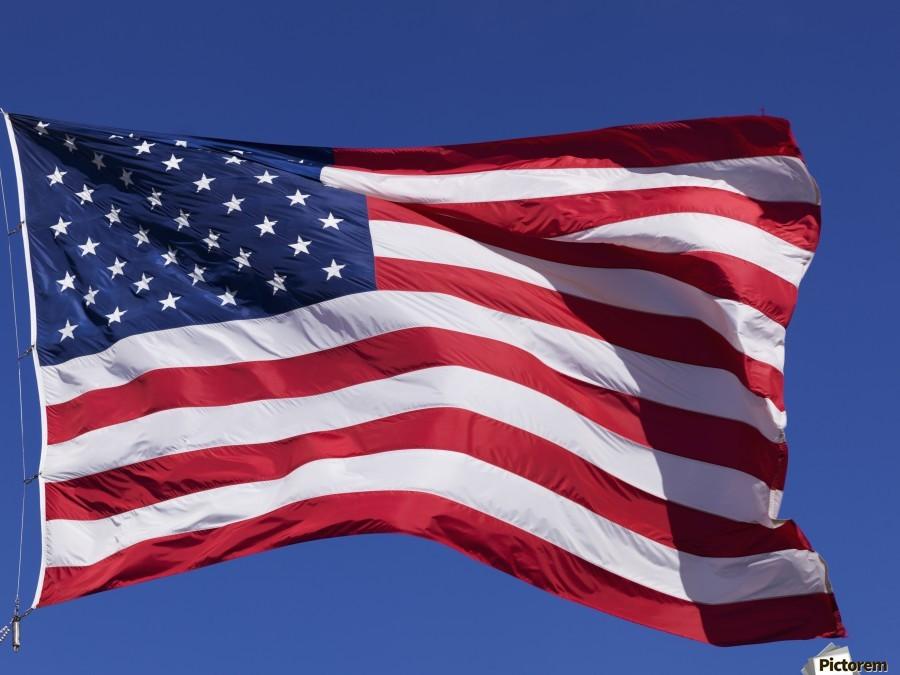Brushed American Flag Canvas USA Flag Canvas America Wall Art USA Wall Decor.