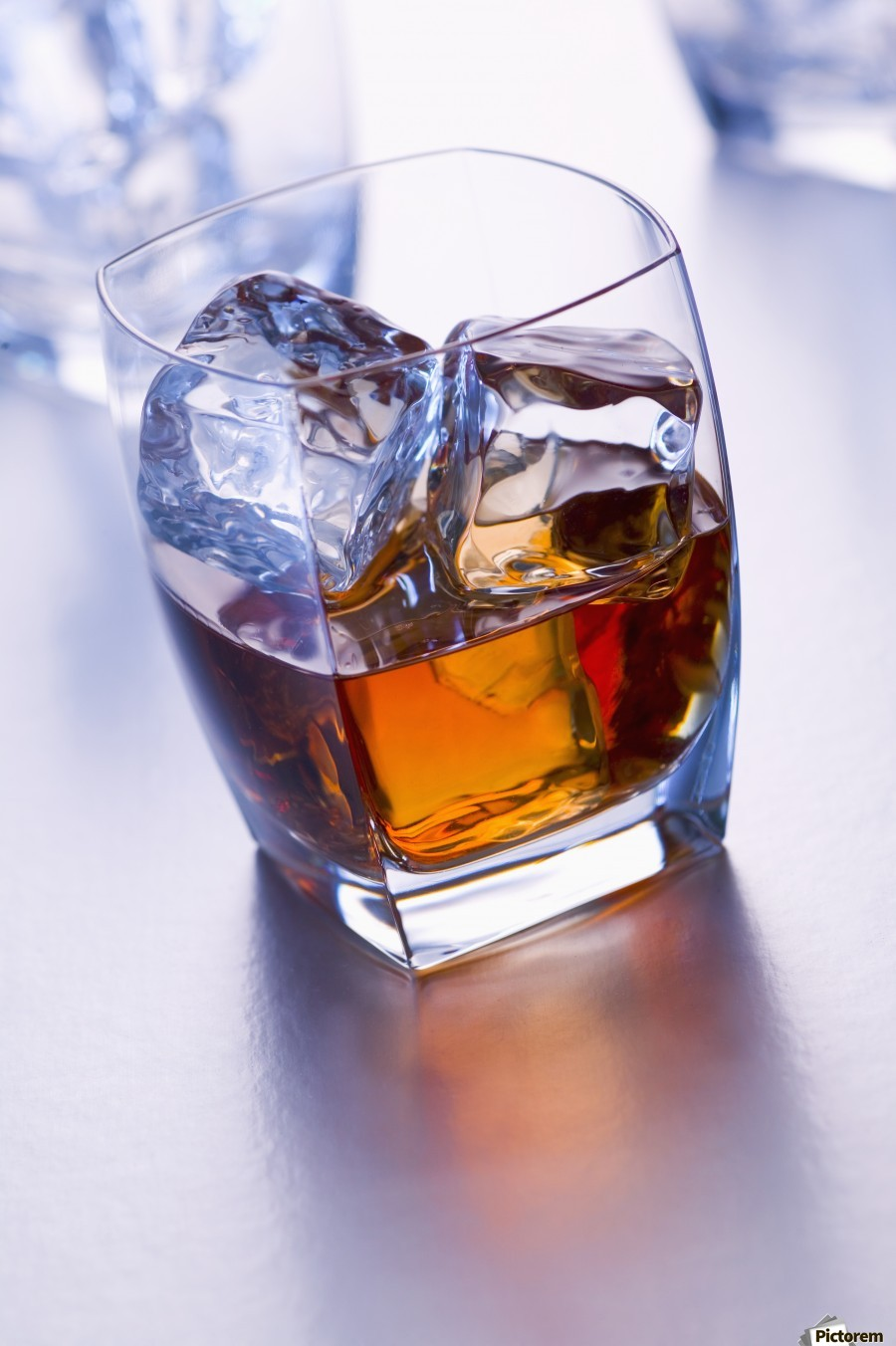 Glass of whiskey  Print