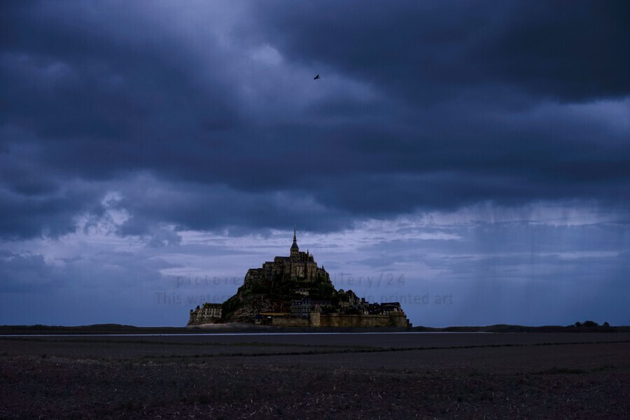 A Day at Mont Saint Michel 12 of 12  Print