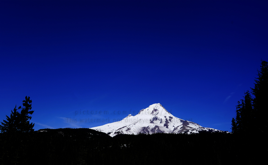 Mount Hood in the Waning Light of Day - Oregon Columbia River Gorge  Print