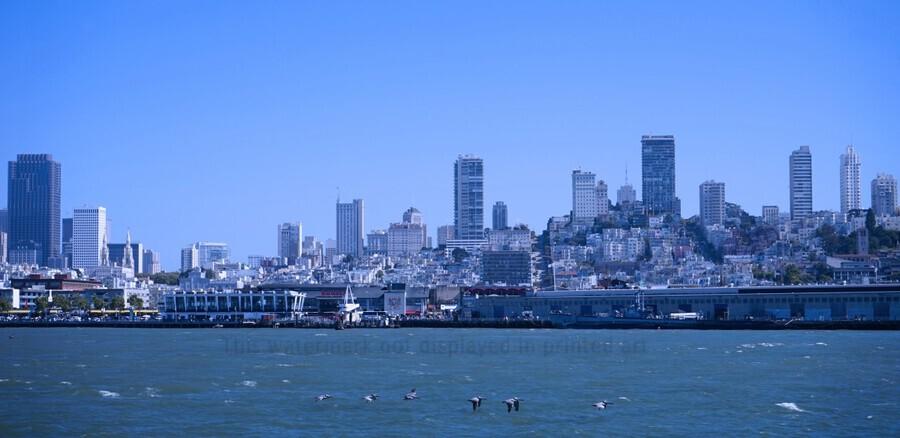 Blue Skies over San Francisco   Print