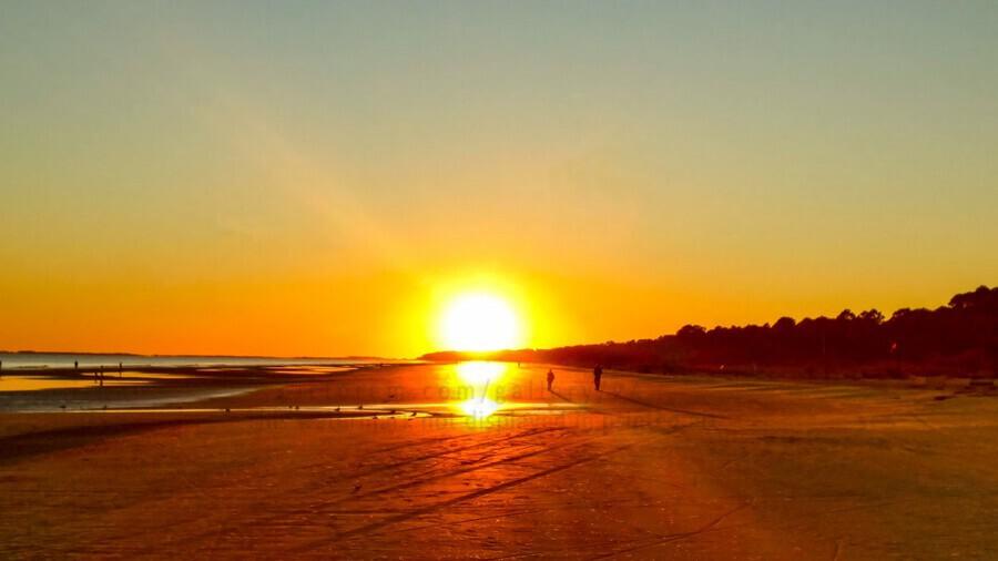 Sunset at the Atlantic Shore  Print