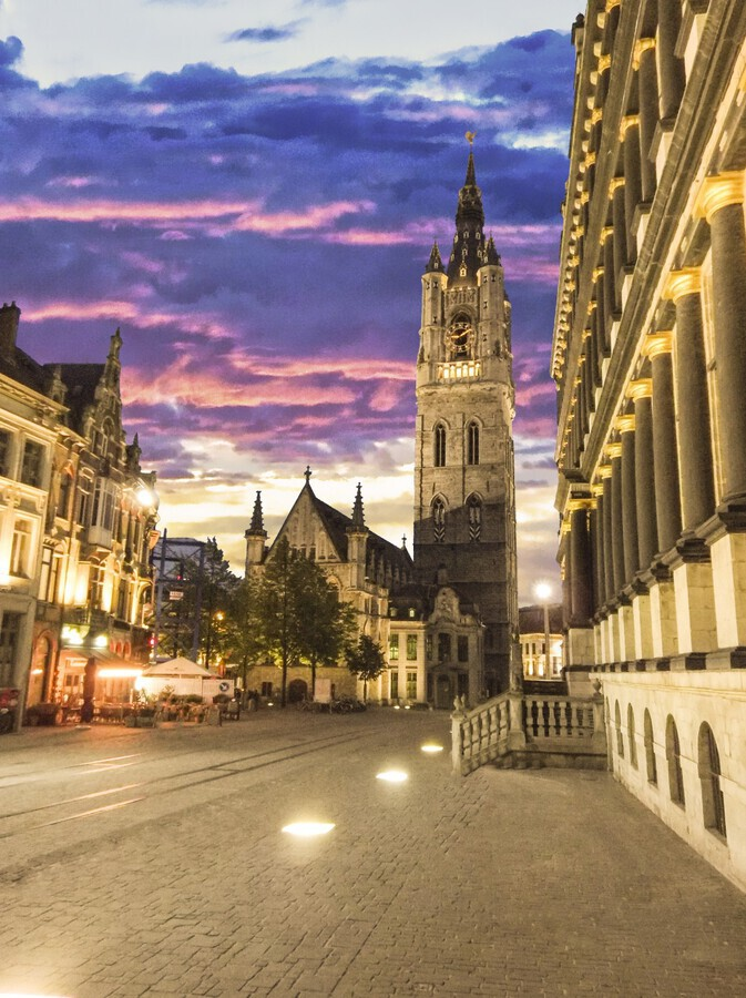 Sunset in Belgium  Print