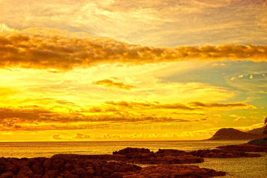 Sunset in Paradise   South Seas  Print