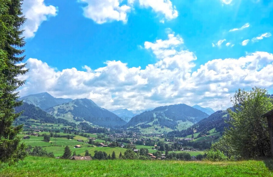 The Last Paradise in a Crazy World Gstaad Switzerland  Print