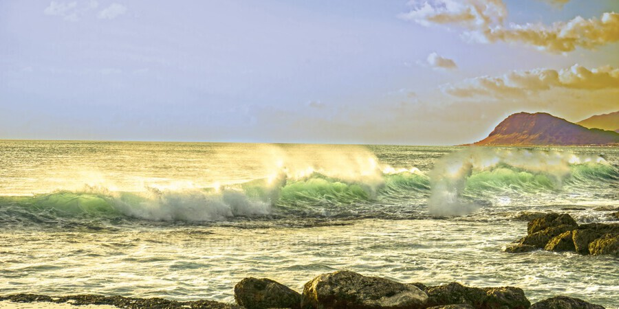Spring Surge After the Storm Panorama  Print