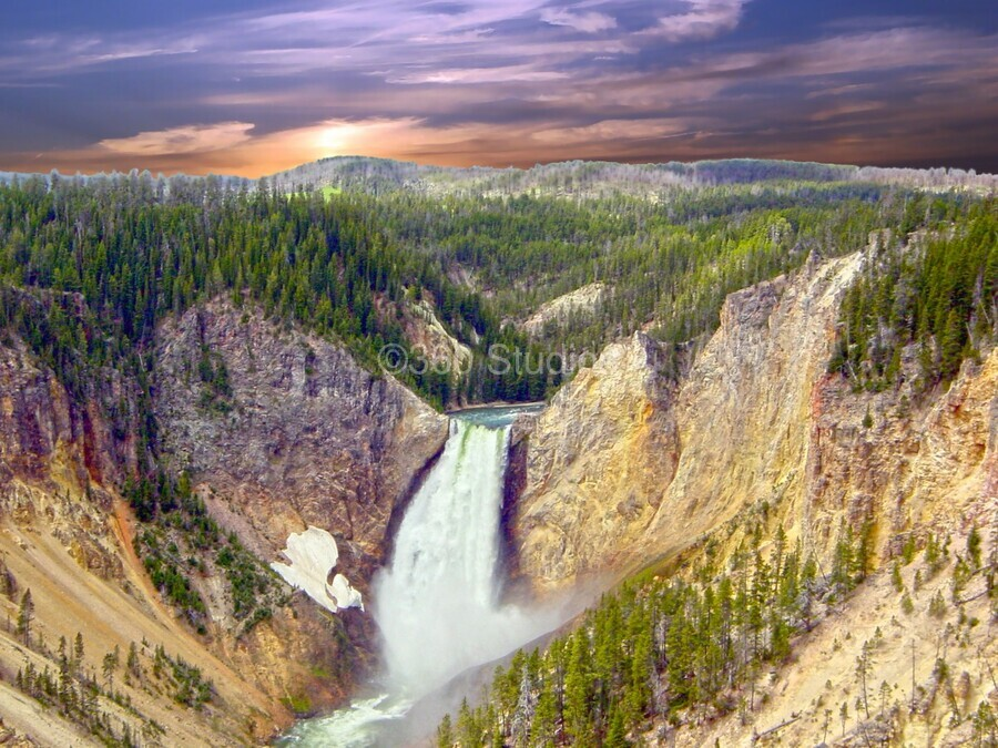 Mighty Yellowstone  Print