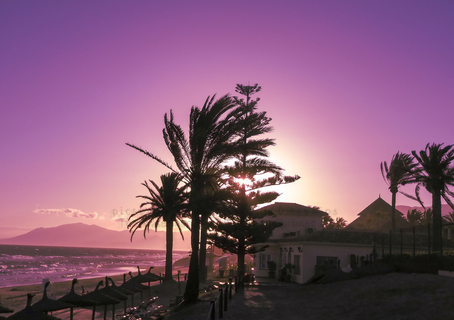Sunset Costa Del Sol Spain  Print