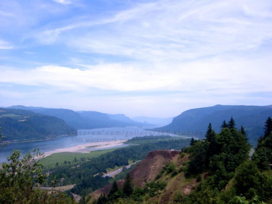 The Gorge   Columbia River  Print