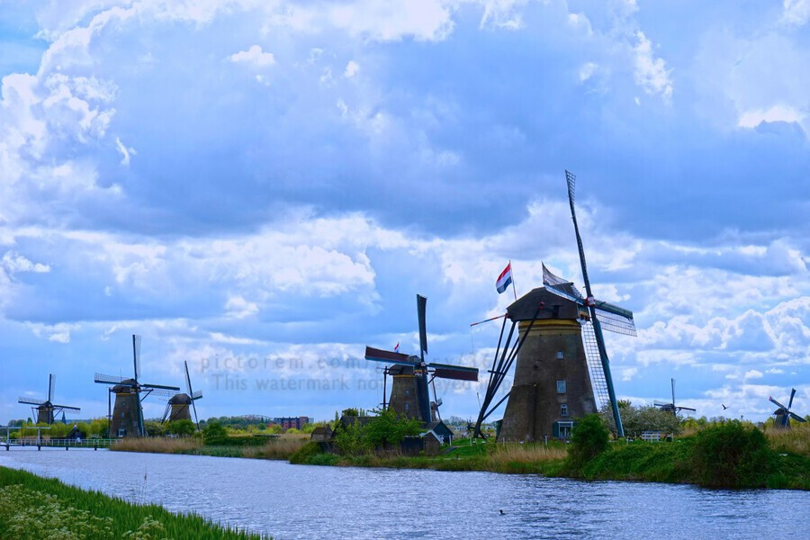Windmills of the Netherlands 1 of 4  Print