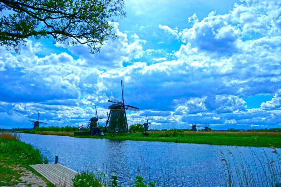 Windmills of the Netherlands 2 of 4  Print