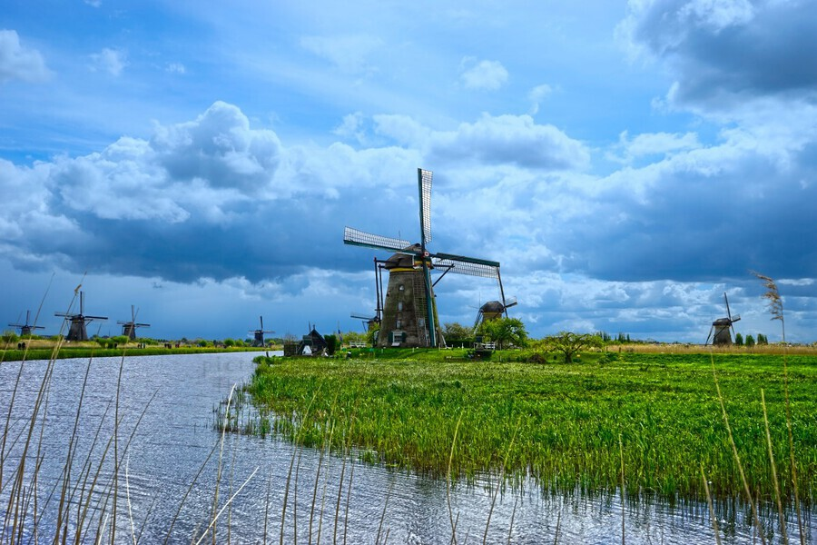 Windmills of the Netherlands 3 of 4  Print