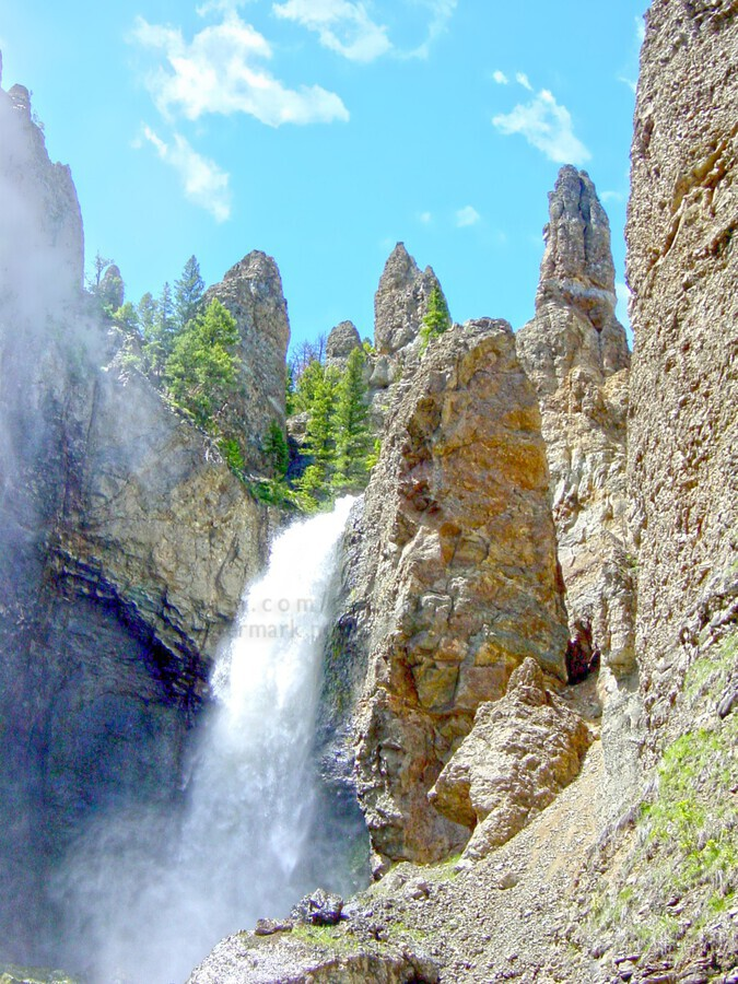 Yellowstone Waterfall - Grand Canyon of the Yellowstone River - Yellowstone National Park  Print