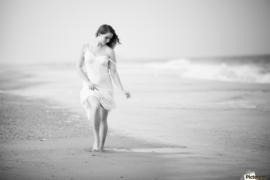 A Walk on the Beach  Print