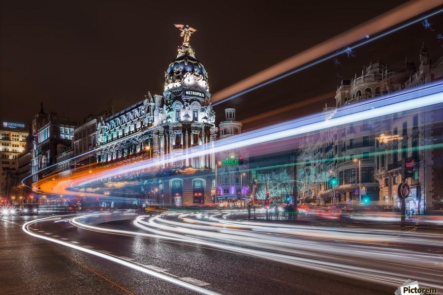 Madrid Traffic  Print