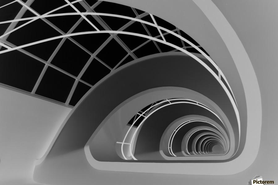 Antwerp-Stairs by jan niezen   Print