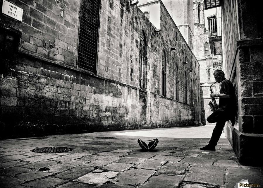 Silent Street  Print