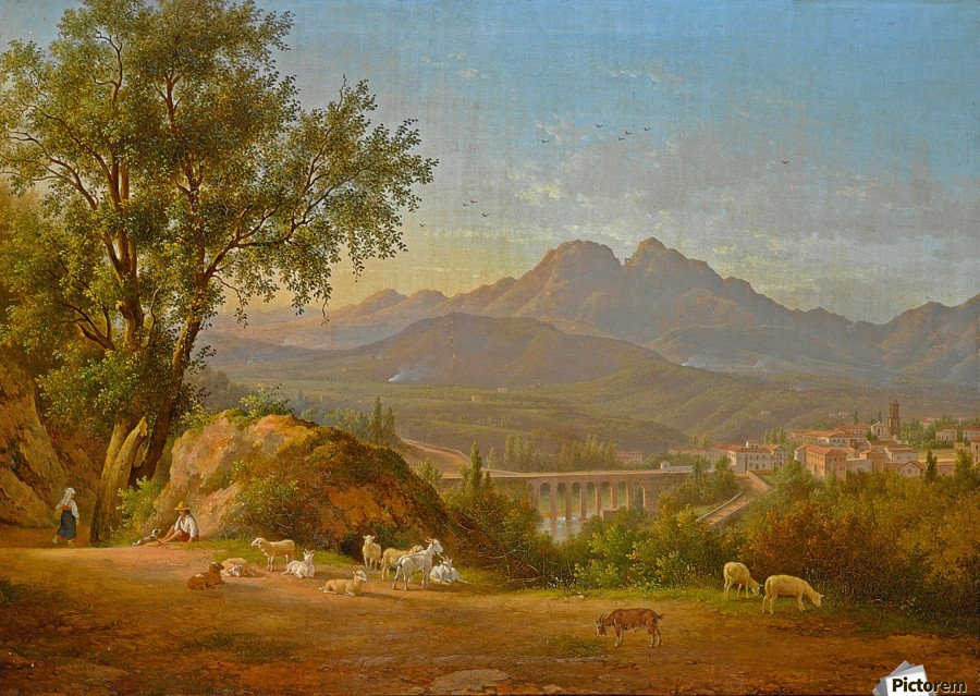 A view of cava dei Tirreni near Salerno, Italy  Print