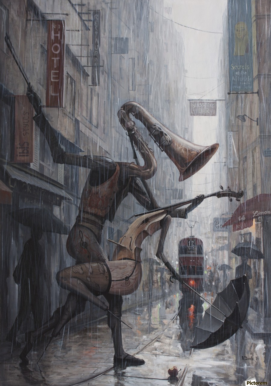 Life is a Dance in The Rain  Print