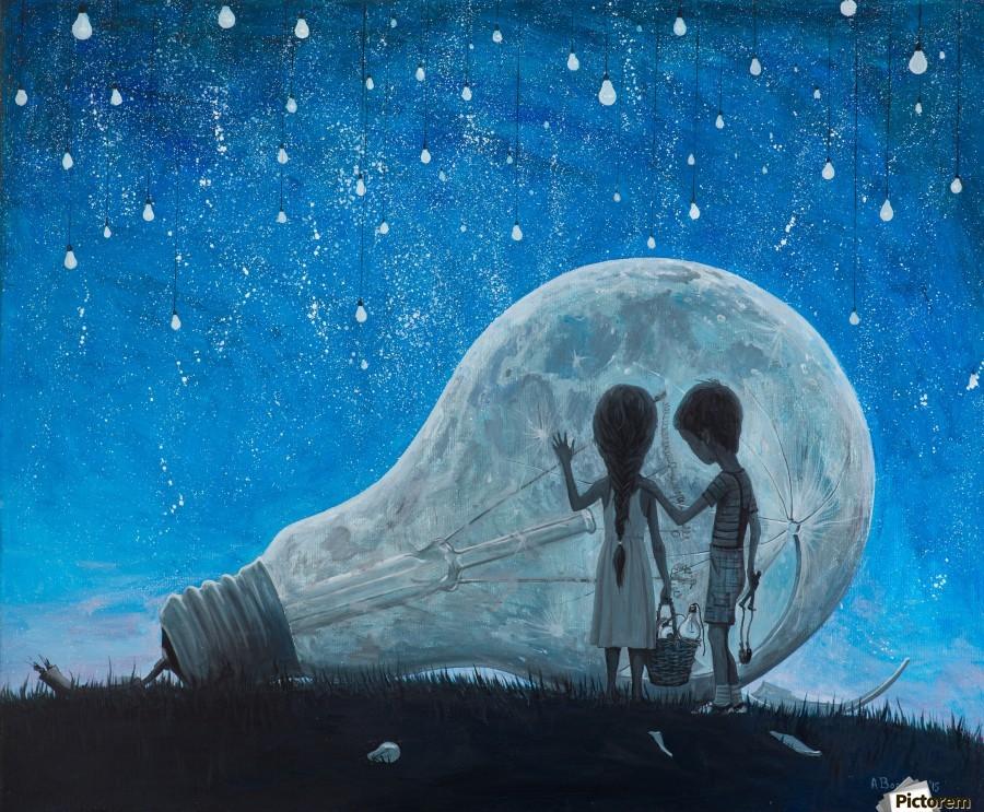The Night We Broke The Moon  Print