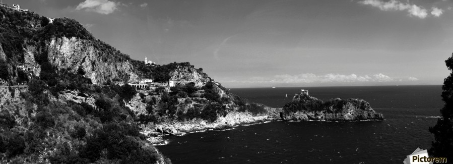 Super panoramic view Amalfi Coast - Italy  Print