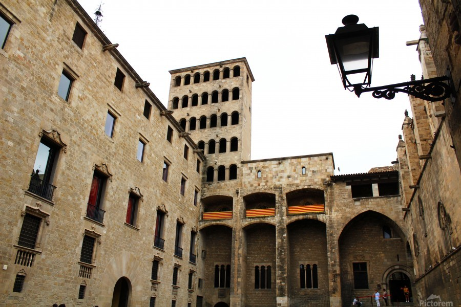 Gothic Quarter - Catalunya - Spain Landmark  Print