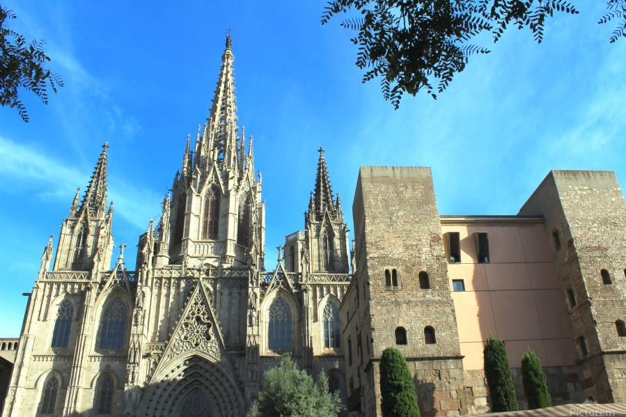 Amazing Barcelona Cathedral  Print