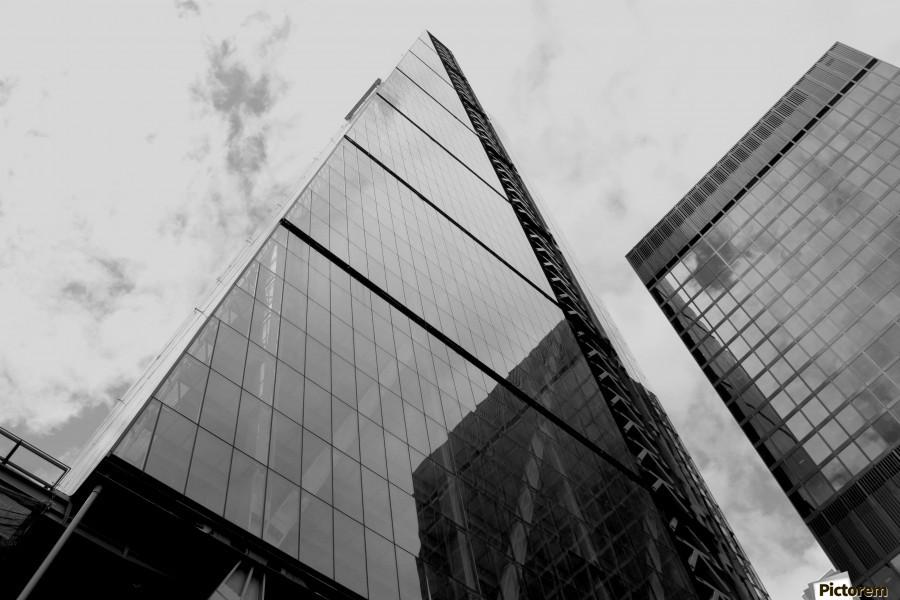 London Skyscraper III - Black and White  Print