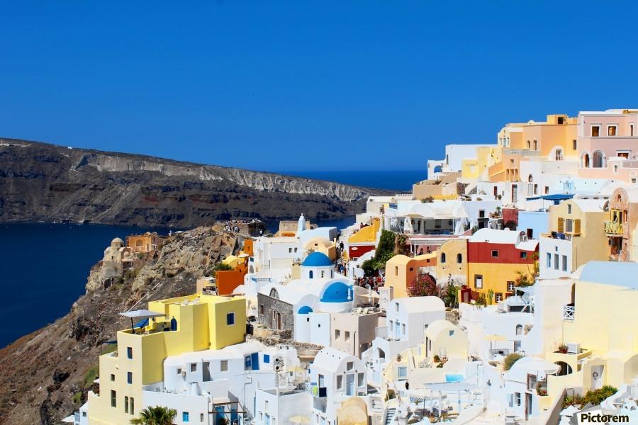 Santorini Landscape - Greece  Print