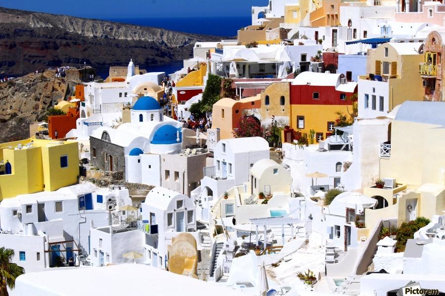 Colours of Santorini  Print