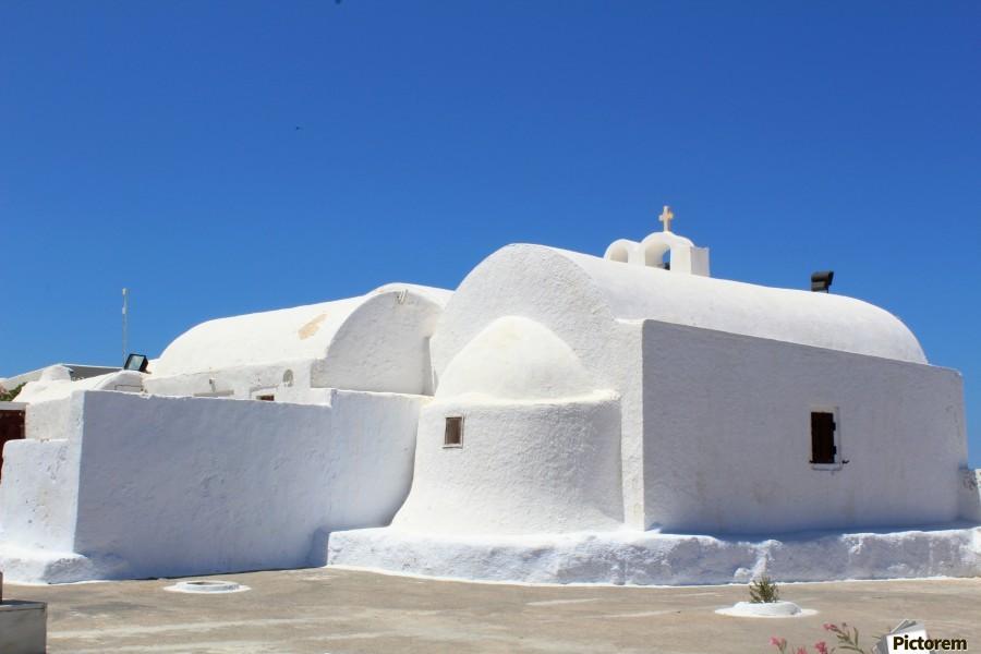White Church -Santorini Island -  Greece  Print